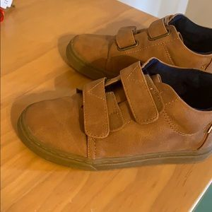 Brown boys shoes